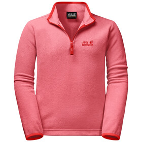 Jack Wolfskin Gecko Pullover in pile Bambino, coral pink
